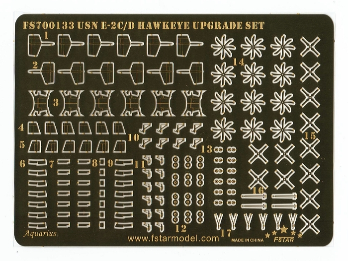 FS700133 1/700 Modern USN E-2C/D Hawkeye Upgrade Set for Trumpeter