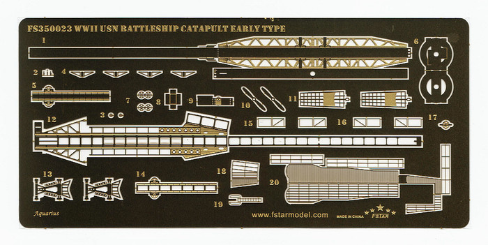 FS350023 1/350 WWII USN Battleship Catapult (Early type)