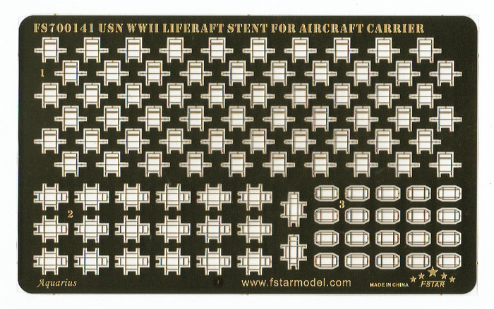 FS700141 1/700 WWII USN Liferaft Stent for Aircraft Carrier