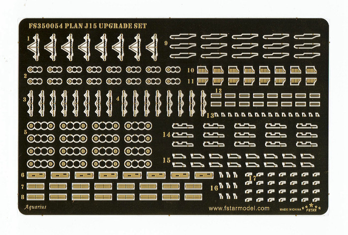 FS350054 1/350 PLAN J15(Su-33) Upgrade set (8set) for Trumpeter