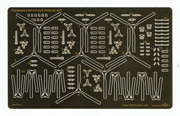 FS350062 1/350 USN CH-46 Upgrade set (4set) for Trumpeter 06256